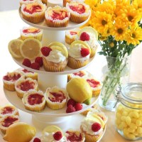Lemon Raspberry Themed Desserts
