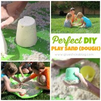 DIY Play Sand (dough)