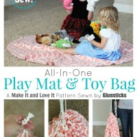 No Sew Play Mat & Toy Bag {And Book Giveaway!}