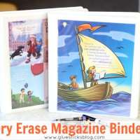 Dry Erase Activity Binders For Kids {from old Magazines}