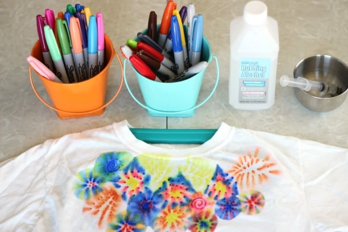 Craft: Sharpie Tie Dyed Shirts