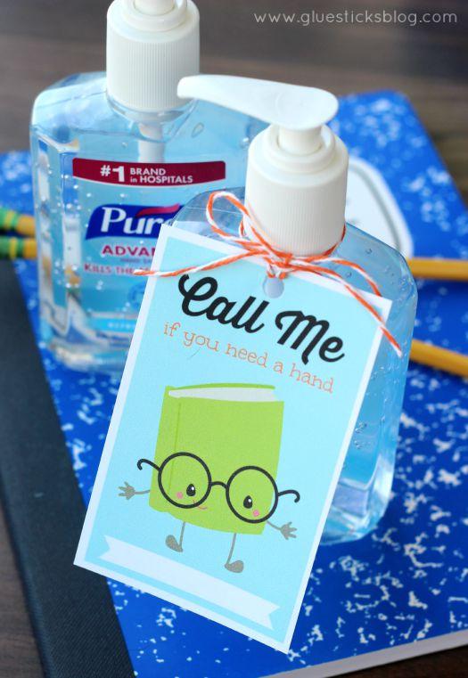 Hand Sanitizer Printable For Teachers Gluesticks