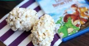 Movie Night Snacks: Dinosaur Egg Popcorn Balls