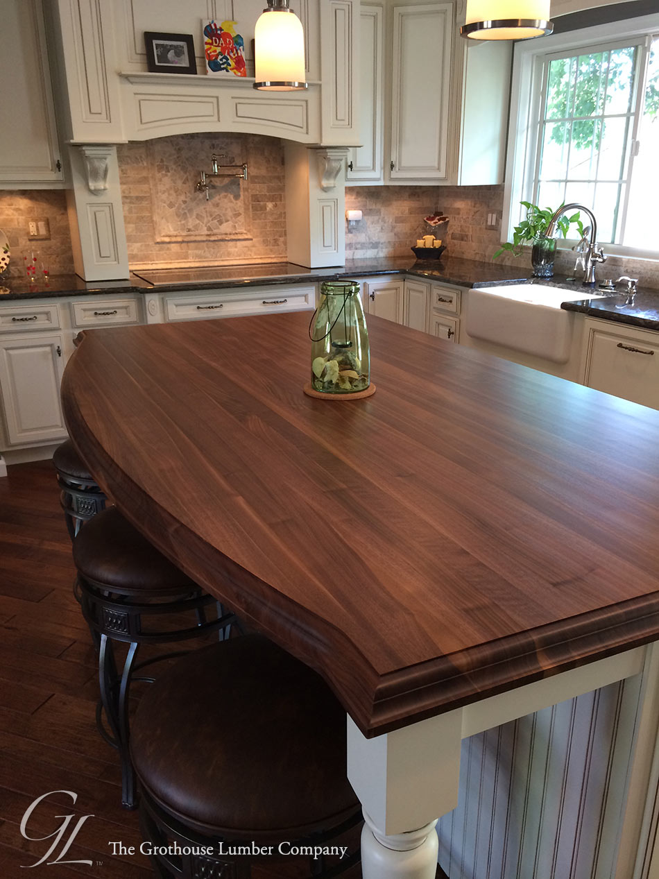 Wood Island Tops Kitchens Custom Walnut Kitchen Island Countertop In Columbia Maryland