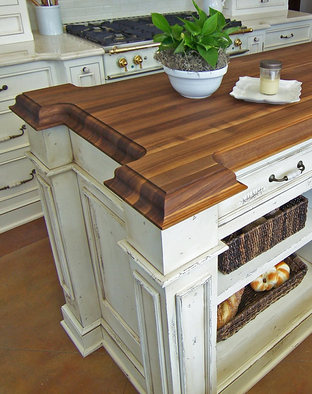 Waterfall Island In Kitchen Wood Countertops Expanded Corners By Grothouse