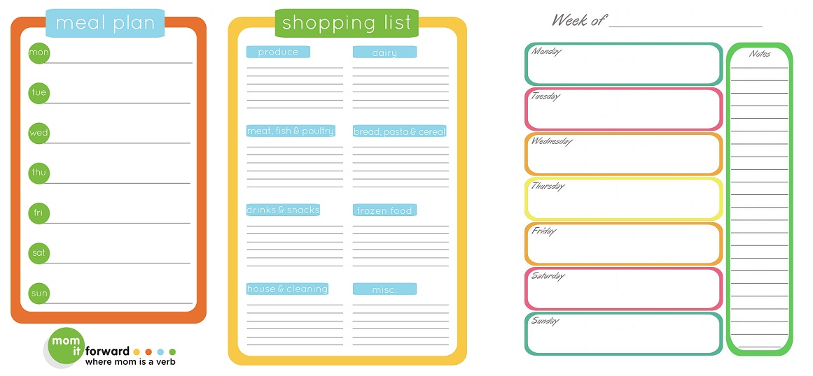 Meal Planning and Making the Grocery List GlutenfreeLadynl - example grocery list