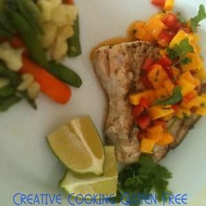 gluten-free swordfish mango recipe