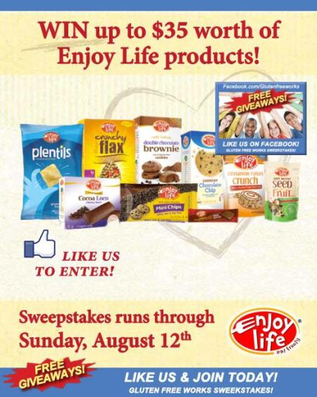 gluten free works sweepstakes giveaways Enjoy Life