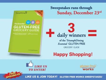 Facebook Triumph Dining Gluten Free Works Sweepstakes