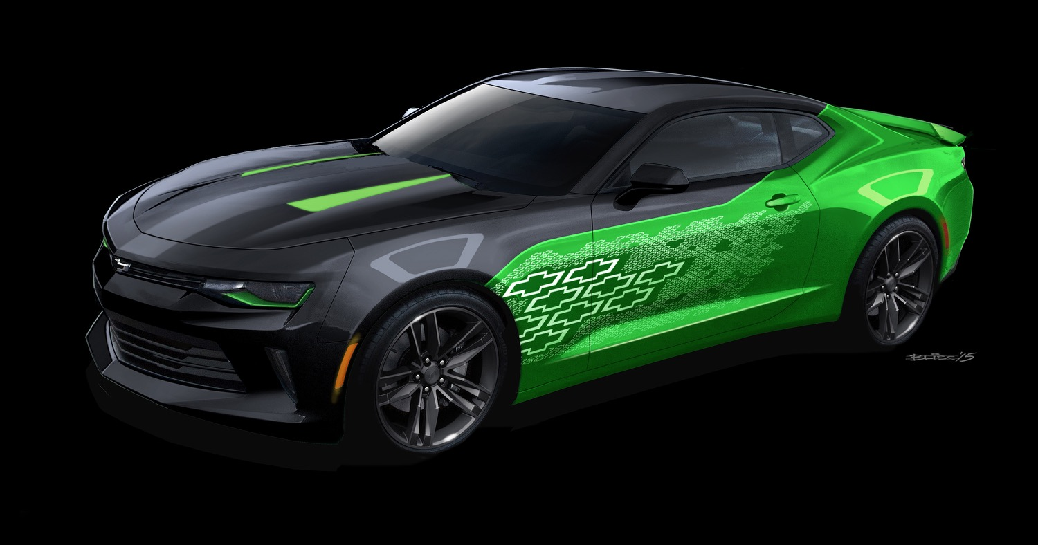 Iphone Muscle Car Wallpapers 2016 Chevy Camaro Krypton Concept At Sema Gm Authority