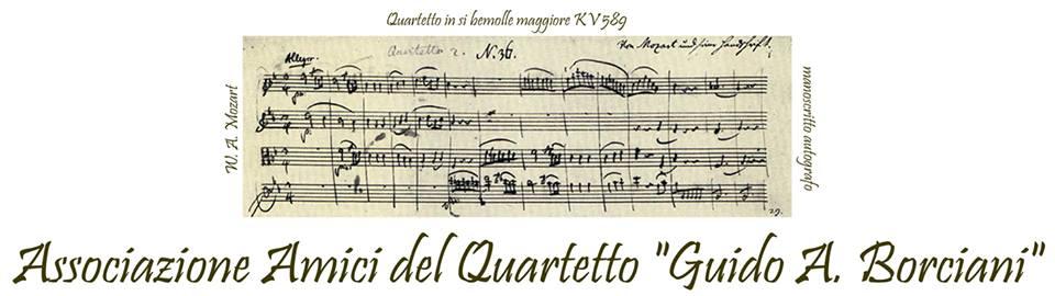 """Amici del Quartetto """"Guido A. Borciani"""": offerta per soci GMI e presentazione delle iniziative 2016"""