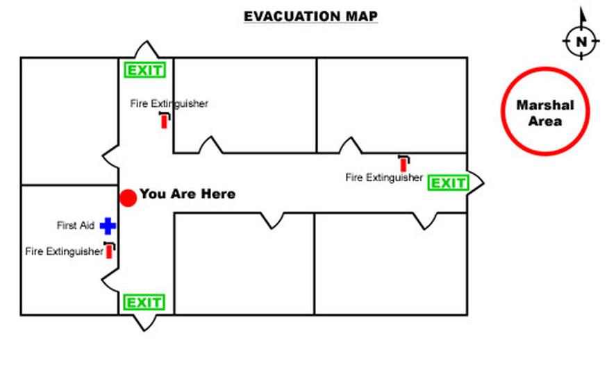 fire escape diagram