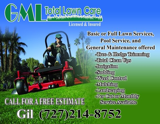 GML Total Lawn Care Flyer - GML Total Lawn Care - lawn services flyer