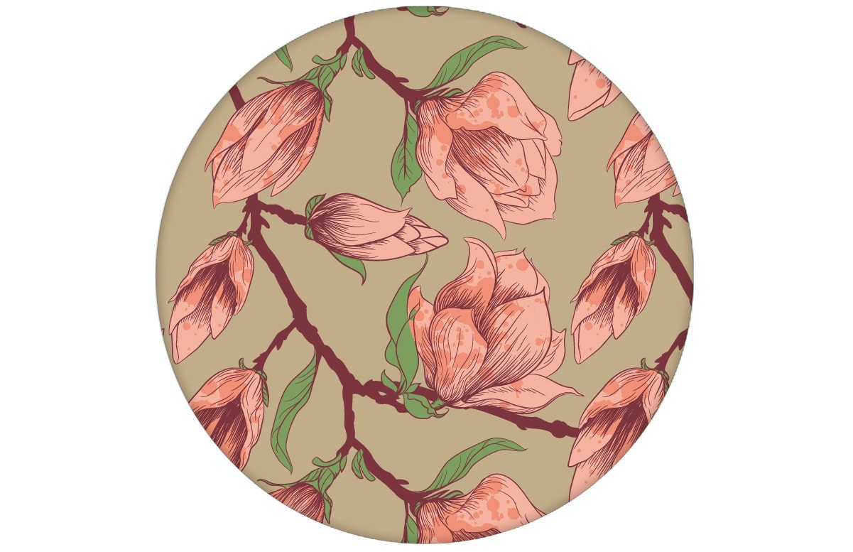 Edle Wandfarben Edle Beige Blumentapete Quotblooming Magnolia Quot Magnolie Gmm
