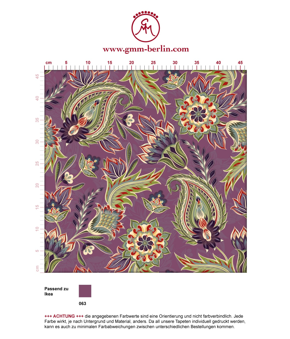 Edle Wandfarben Lila Edle Design Tapete Quotclassic Paisley Quot Wohnzimmer Gmm