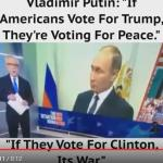 Wolf Blitzer: Putin says Trump means peace; Hillary means war