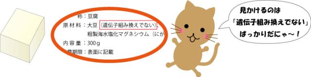 豆腐の表示