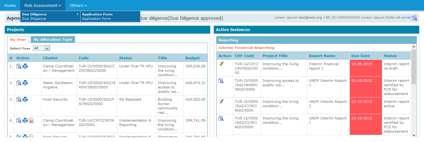 Due Diligence CBPF GRANT MANAGEMENT SYSTEM (GMS) - HOME