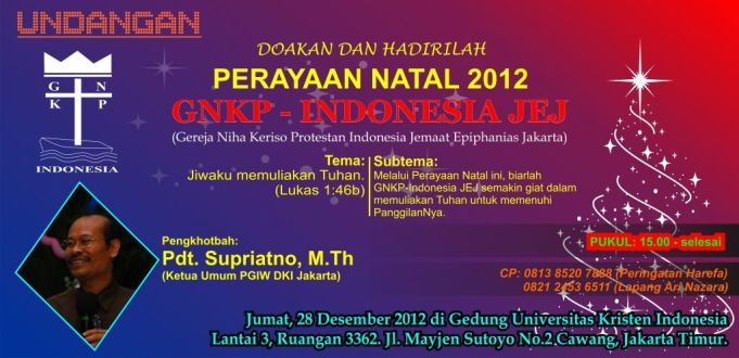 Minimalisidaman Info Undangan Ibadah Dan Perayaan Natal