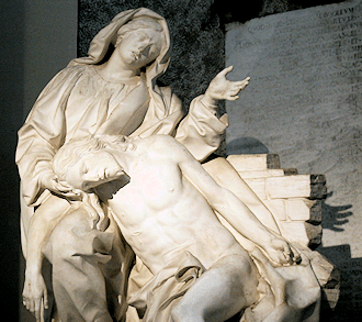 Prayers: Sorrow for the Blessed Mother - Bernini's pieta in St. John Lateran Basillica