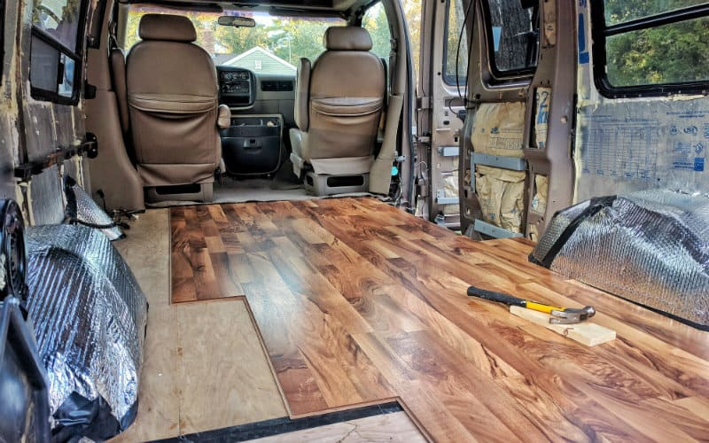 Installing Laminate Flooring In Our Conversion Van