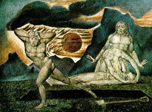 Cain Body of Abel Discovered by Adam and Eve by William Blake The BirthMark of Cain