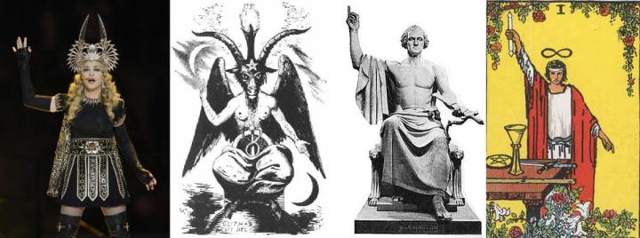 Abraxas mythos in Jupiter Ascending - Basis for Symbolic Understanding  Baphomet-Washington-and-madonna1