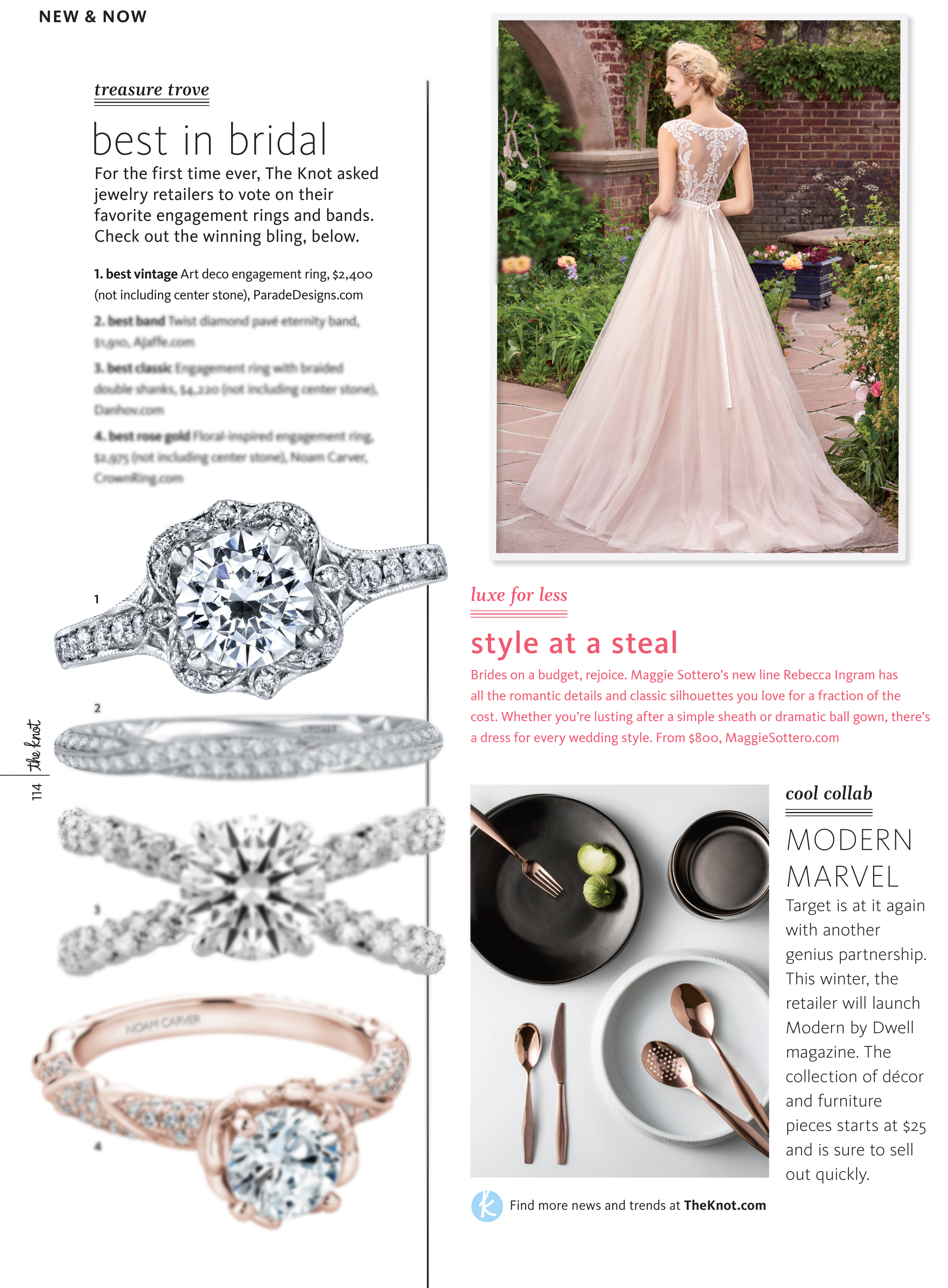 knot magazine editorial sapphire tricolor vintage marvel wedding rings new and now best in bridal