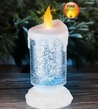 Glitzer Kerze mit LED - Weihnachtskerze mit Farbwechsel ...