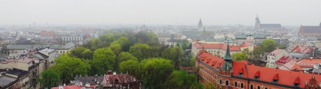 Krakow from the Wawel Cathedral Belltower