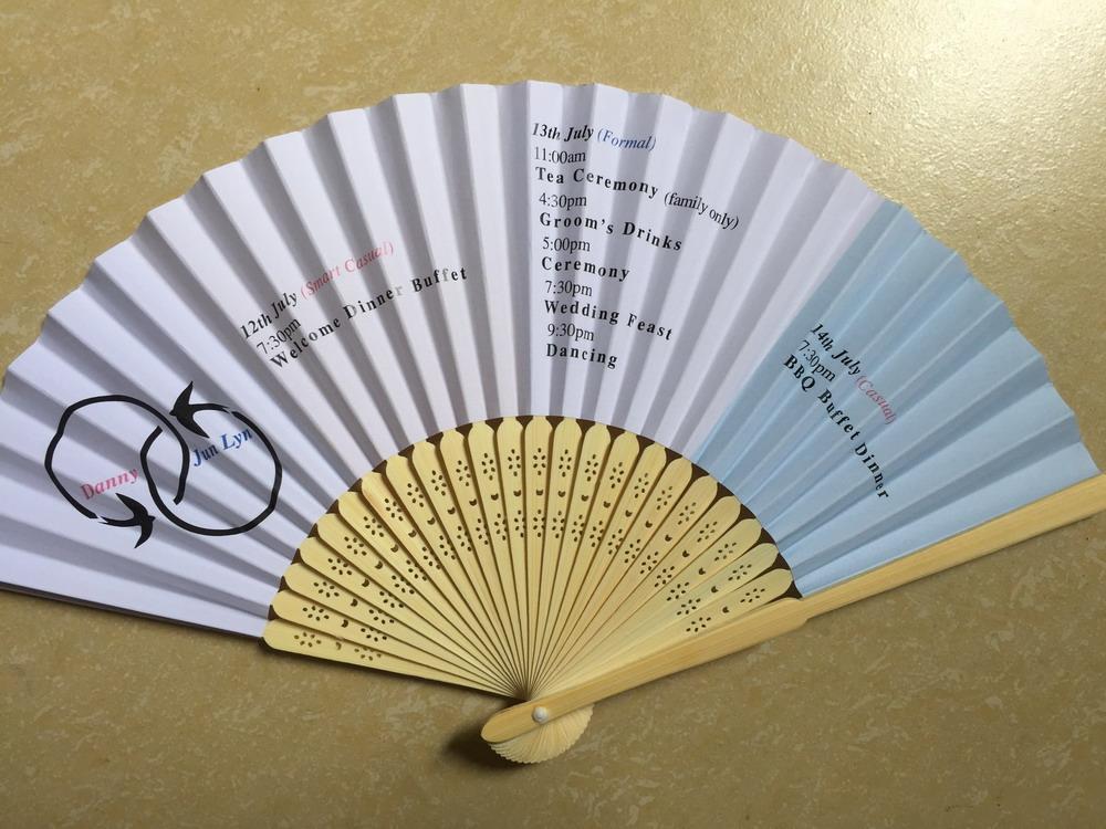 Print Paper Fans Wedding Invitation Gifts Idea Wedding