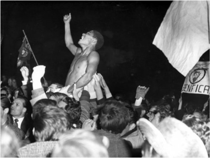 Eusébio after winning 1962 European Cup