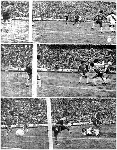 The famous bicycle kick goal by Oblitas against Chile