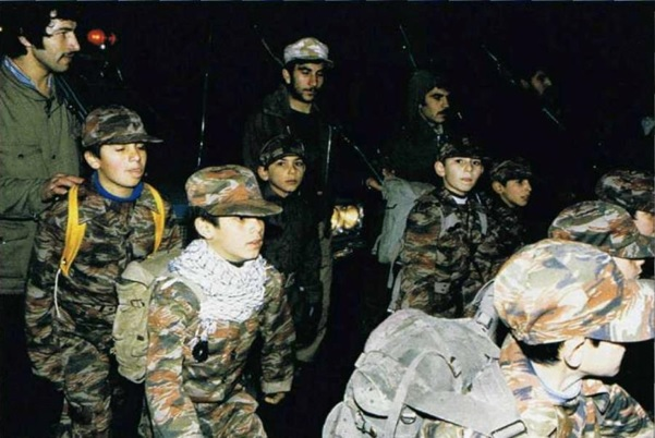 Child soldiers during the Iran–Iraq war (source: reddit.com)