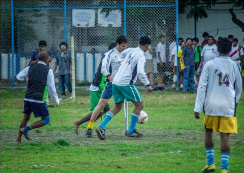 Amputee/disabled football in India with help from CWF (Courtesy : Krishanu Chanda)