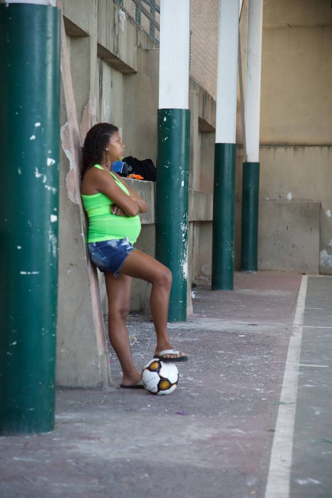 One of the Favela Street Foundation member experiencing the beauty of the game when she was expecting.