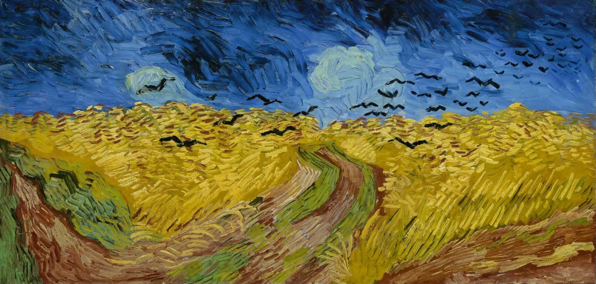 Wheatfield with Crows is a July 1890 painting by Vincent van Gogh