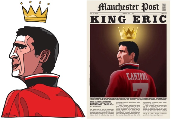 King Cantona, by Dan Leydon