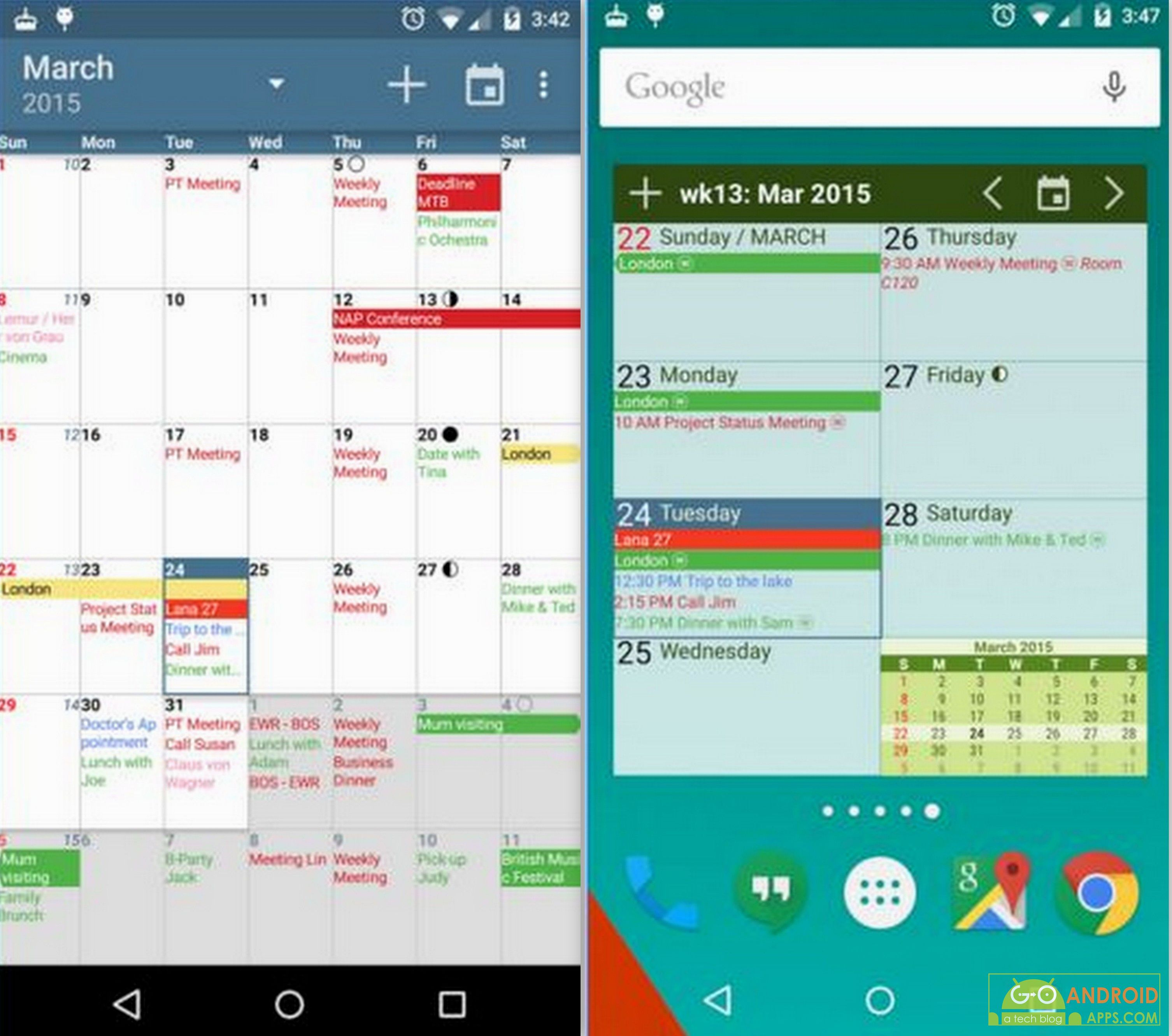 top 10 best calender apps for android 2016 go android apps