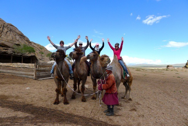 couples camel riding