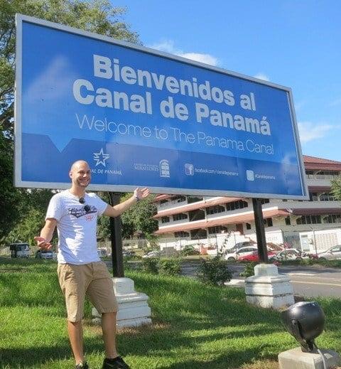 Panama Canal Sign