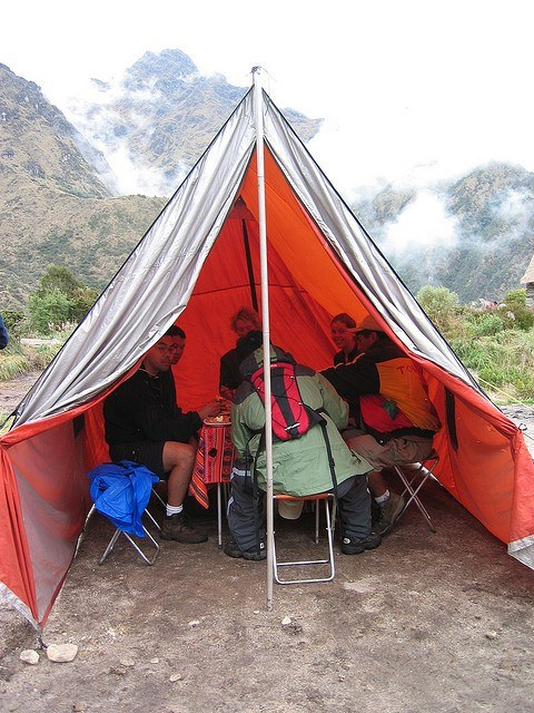 Camping on the Inca Trail in Peru (photo: fortherock)