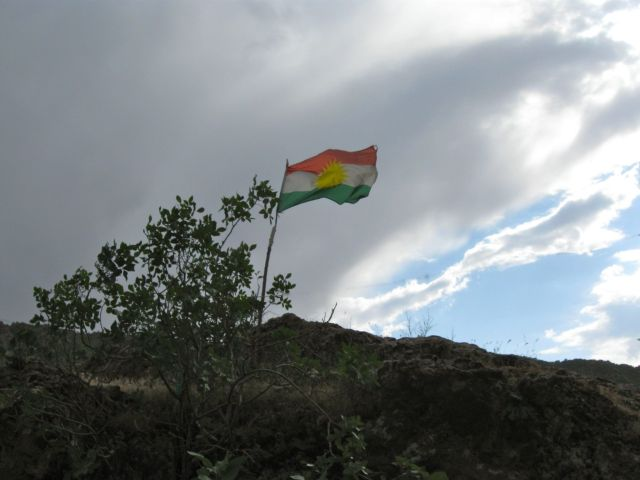 Kurdish flag in Zakho