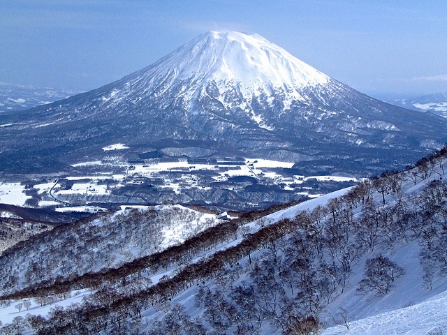 The snow-covered Mt. Yotei