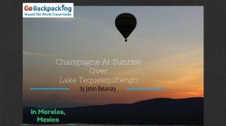 Champagne At Sunrise Over Lake Tequesquitengo
