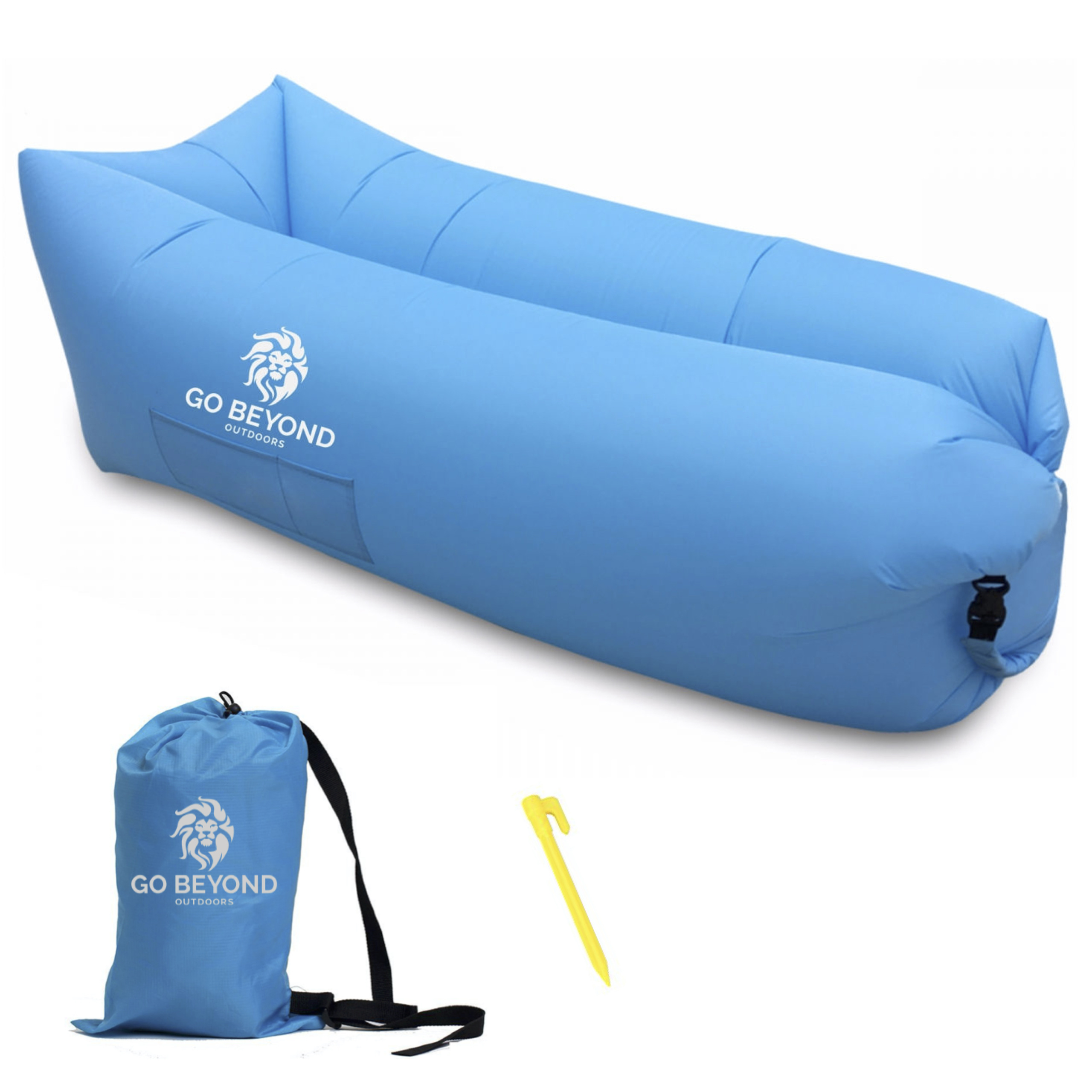 Big Inflatable Couch Blue Inflatable Air Lounger