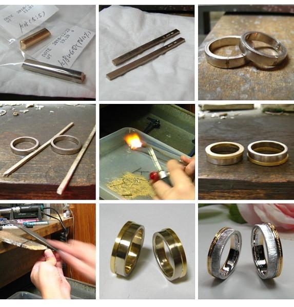 コンビの結婚指輪・制作手順