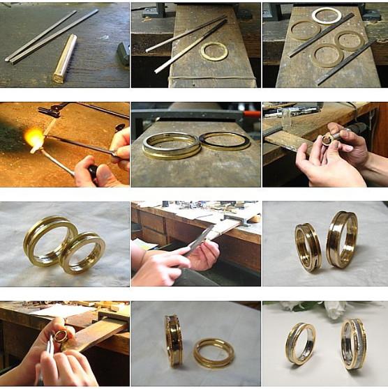 ミル打ち、結婚指輪の加工