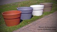 Aqueous Plastic Self Watering Planter | Site Furnishings