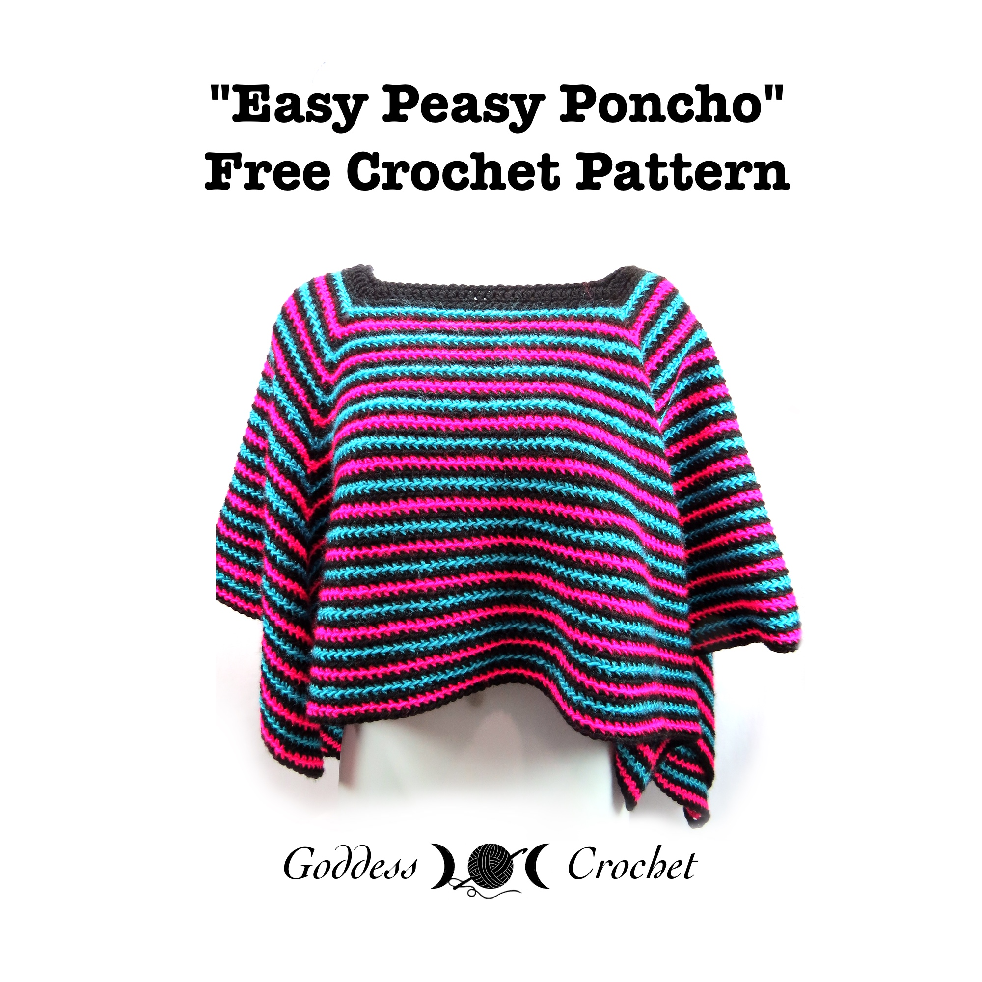 how to make a simple crochet poncho
